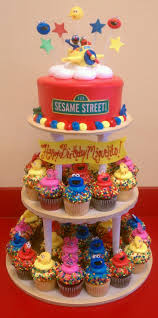 Sesame Street Cake And Cupcakes Food I Love Pinterest Sesame