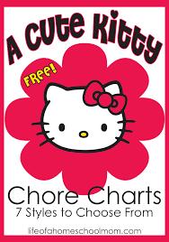 free kitty chore charts