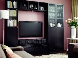 billy black brown bookcase combination with tv bench living