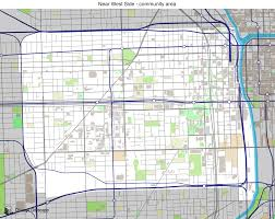Chicago Areas Map by Map Of Building Projects Properties And Businesses In Near West