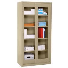 72 Storage Cabinet Sandusky Lee Bv4s 361872 Clear View Sliding Door Cabinet Schoolsin