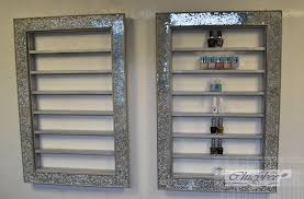 mosaic crackle mirror nail polish rack beauty u0026 make up display