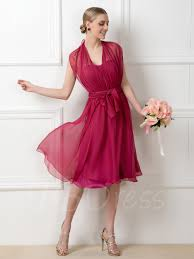 a line ruched convertible knee length bridesmaid dress tbdress com