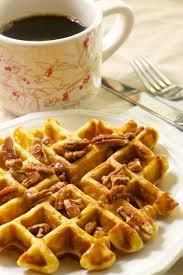 sweet potato pecan waffles a thanksgiving leftovers recipe the