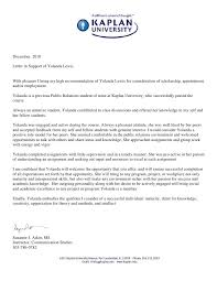 ideas of sample recommendation letter university student with