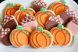 pumpkin and acorn cookies fall creations acorn