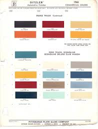 paint chips 1965 ford truck