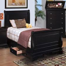 Cherry Sleigh Bed Twin Cherry Sleigh Bed Drawer Chest In Ebony Drum Table Lamp White
