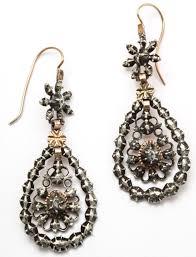 silver chandelier earrings georgian chandelier earrings embellished with antique diamonds at