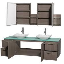 Bathroom Vanity Gray by Amare 72 Inch Double Bathroom Vanity In Gray Oak Carrera Marble