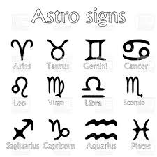 astro sign hand drawn horoscope zodiac signs royalty free vector clip art