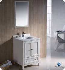 Antique White Vanity Set Fresca Oxford Single 24 Inch Transitional Bathroom Vanity