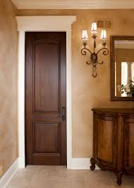 Interior Door Wood Custom Interior Door Single Solid Wood With Walnut Finish