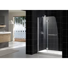 Hinged Frameless Shower Door by Elegant Dreamline Aqua Frameless Shower Door And Shower Base