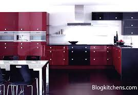 Red Colour Kitchen - the kitchen in burgundy color rules of designing and planning