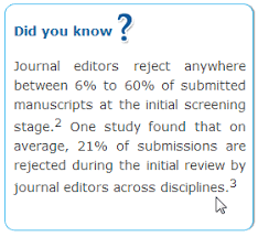 peer review process and editorial decision making at journals
