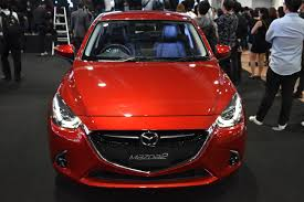 mazda international mazda2 hatchback front at 2017 bangkok international motor show