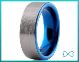 blue men rings images Mens tungsten ring blue black men tungsten rings ringscollection jpg