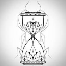 sand clock tattoo designs geometrical ornamental hourglass art work pinterest