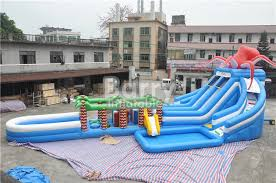 octopus jungle inflatable hurricane backyard water slide with