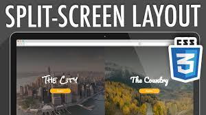 split layout js responsive split screen layout css3 xo pixel youtube