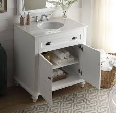 34 Bathroom Vanity 34 Inch Cottage Bathroom Vanity White Finish