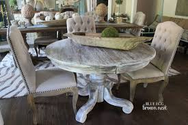 White Washed Kitchen Table by Ideas For Annie Sloan Chalk Paint Dining Room Makeovers