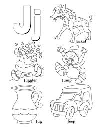 j alphabet words for j alphabet coloring page free kids