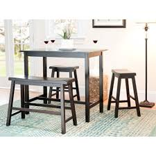 Industrial Bistro Table Safavieh Ronin 4 Piece Espresso Bar Table Set Amh8503a The Home