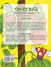 crazy bugs visiting zoo coloring book featuring bub