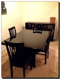 Craigslist Dining Room Table And Chairs by Plastic Faux Leather Solid Purple Set Of 2363 Craigslist Kitchen