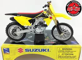 toy motocross bikes suzuki rmz450 1 12 die cast motocross mx toy model bike new ray