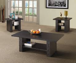 coaster 3 piece table set rich black finish walmart com