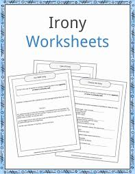 Flag Day Reading Comprehension Worksheets Irony Examples Definition And Worksheets Kidskonnect