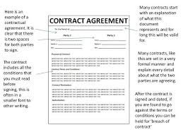 how to write a contract agreement between two people non
