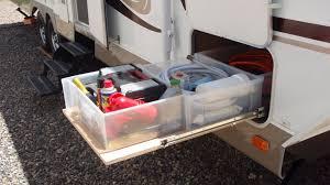 rv sliding storage and cargo trays modmyrv