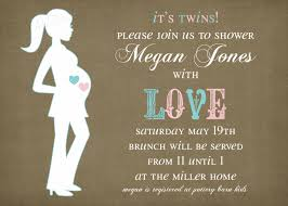 baby shower invitations for twins invitations templates