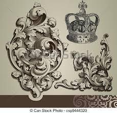 baroque ornaments csp9444320 engraving baroque