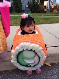 Halloween Japanese Costumes Fun Strange Japanese Kids Costume Sushi Roll Ginger