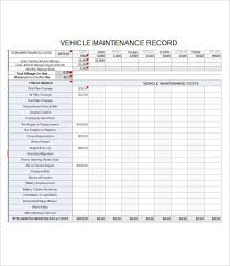 Truck Maintenance Spreadsheet by Vehicle Maintenance Log 7 Free Pdf Excel Documents