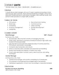 standard resume exles retail manager resume exles cv resume
