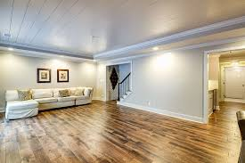 traditional basement with crown molding by cannon zillow