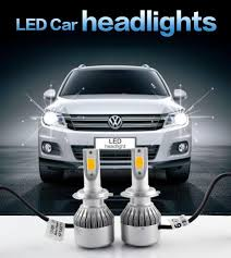 Led Light Bulbs For Headlights by 2x H7 Led H4 Car Headlights 72w 7600lm Car Led Light Bulbs H1 H3