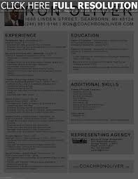 Coaching Resume Soccer Player Resume Resume For Your Job Application