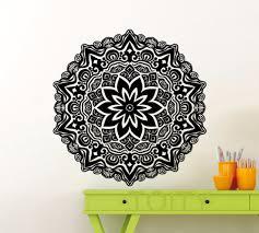 aliexpress com buy mandala sticker wall art gym mehndi ornament