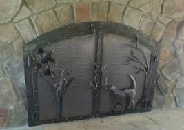 Arched Fireplace Doors by Fireplace Joe Brown Artist Blacksmith