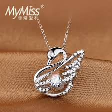 swarovski platinum necklace images Usd 220 91 mymiss inlaid swarovski artificial zircon silver jpg