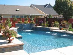 pool waterfall kit design homesfeed awesome of surrounding with