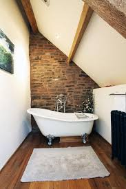 loft bathroom ideas small loft bathrooms with exposed brick walls
