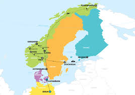 map of europe scandinavia scandinavia end helsinki tour europe contiki